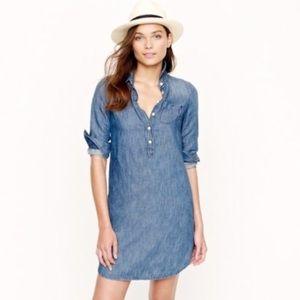 J. Crew cotton linen collared button shirt dress 6